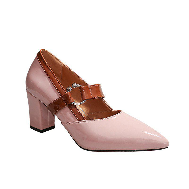 Work Shoes  Pointed Toe High Heels - PINK 34