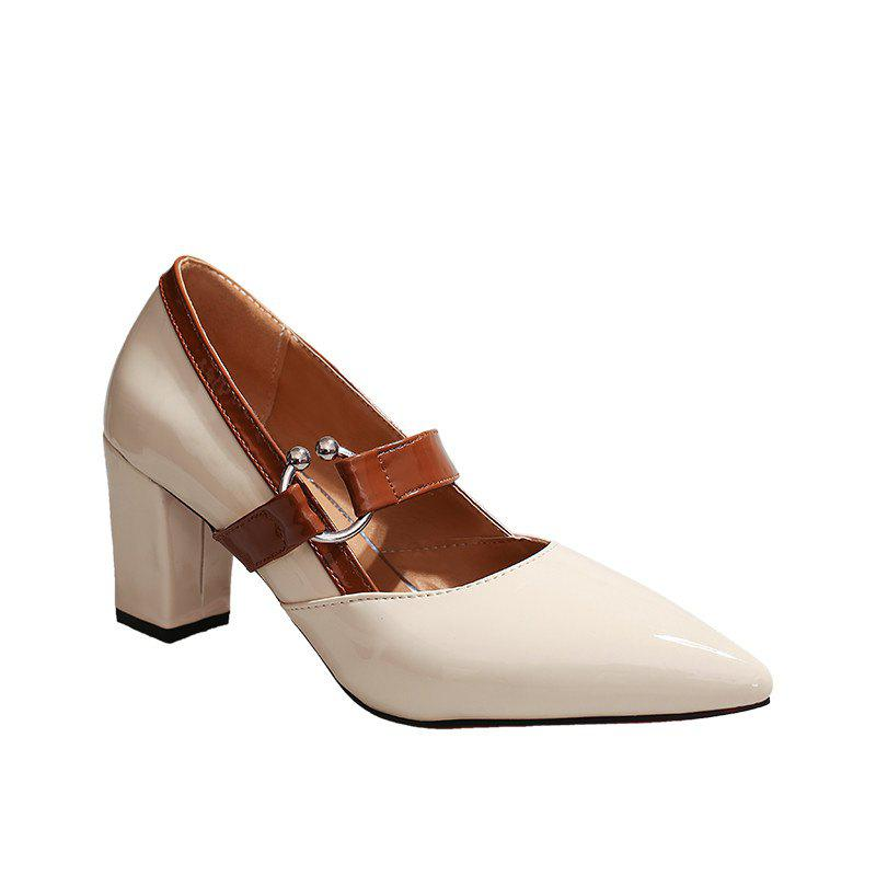 Work Shoes  Pointed Toe High Heels - APRICOT 38