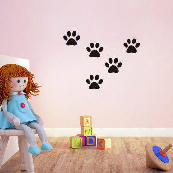 DSU Funny Dog Cat Wall Sticker for Kids Room Home Decoration - BLACK 58X10CM