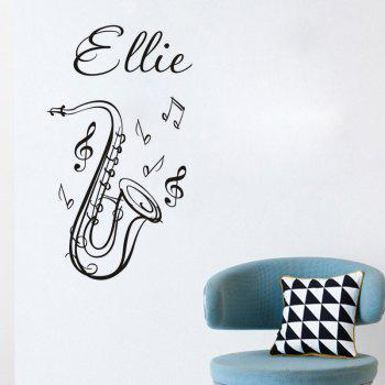DSU Music Classroom Decorative Wallpaper Saxophone European Style Creative Wall Sticker - BLACK 45X80CM