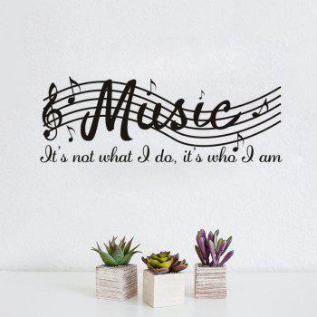 DSU Music Note Decal Removable Wall Sticker - BLACK BLACK