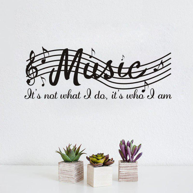 DSU Music Note Decal Removable Wall Sticker music treasures co music note pad pack of 2