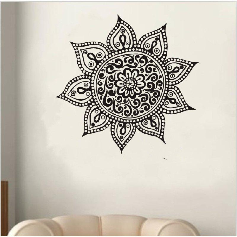 DSU Dream Catcher Home Decor Art Vinyl Wall Sticker - BLACK 58X58CM