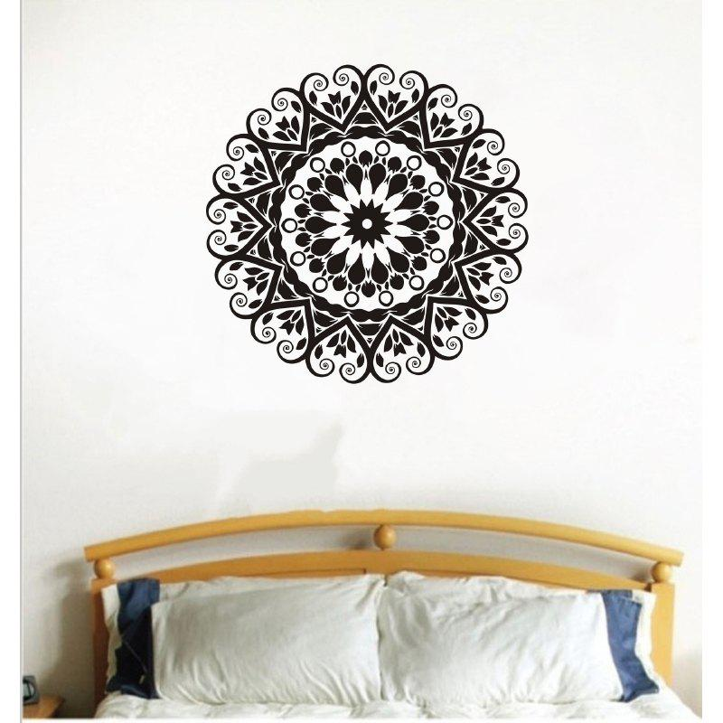 DSU Art Wall Sticker for Home Decoration - BLACK 58X58CM