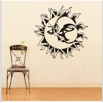 DSU Yoga Lotus Meditation Home Decor Wall Sticker - BLACK 58X58CM