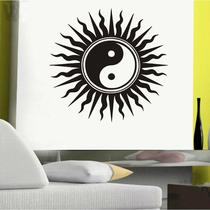 DSU Creative Home Decor Wall Sticker - BLACK 57X54CM