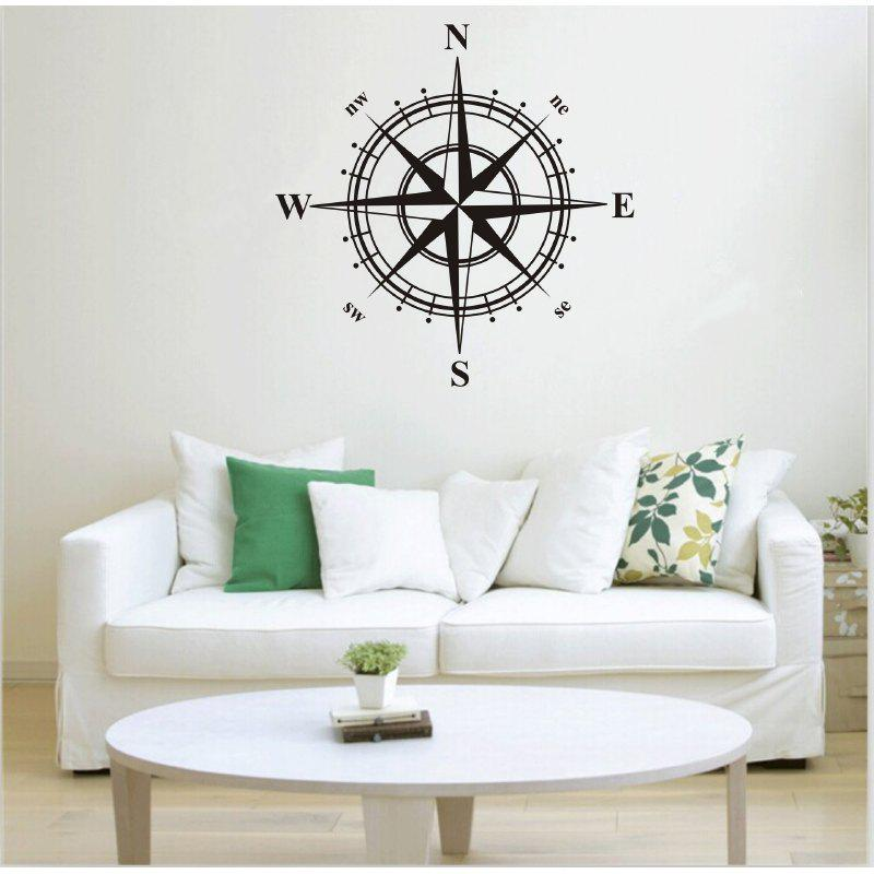DSU Compass Wall Sticker for Home Decoration 236269101