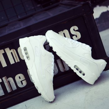 Men Casual New Design Walking Classic Trend for Fashion Leather Outdoor Shoes - WHITE 36