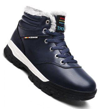 Men Casual New Walking Classic Trend for Fashion Leather Outdoor Suede Boots Big Size Shoes - BLUE BLUE