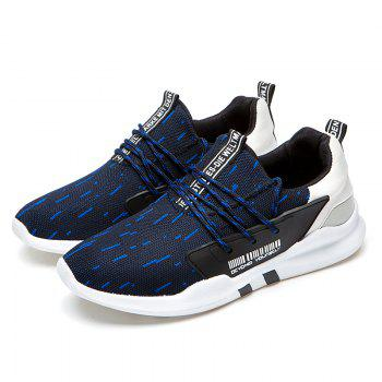 Men Casual New Design Walking Classic Trend for Fashion Mesh Fabric Outdoor Shoes - BLUE BLUE