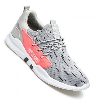 Men Casual New Design Walking Classic Trend for Fashion Mesh Fabric Outdoor Shoes - GRAY GRAY