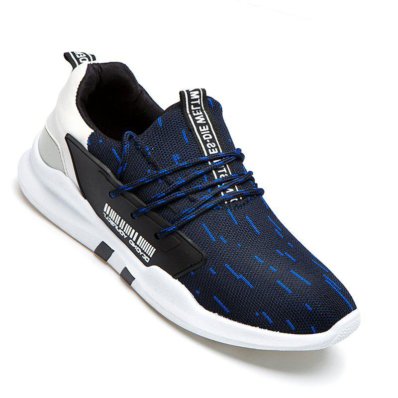 Men Casual New Design Walking Classic Trend for Fashion Mesh Fabric Outdoor Shoes - BLUE 40