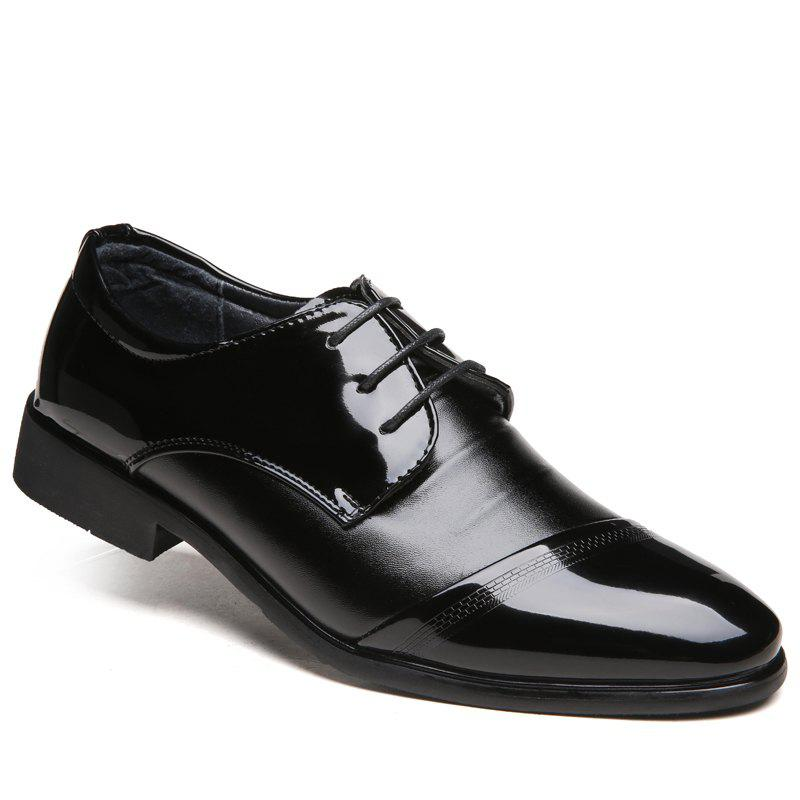 Men New Design Walking Trend for Fashion Business Outdoor Leather Wedding Shoes - Black 41 outlet fast delivery sale cheap price new sale online BoMnLKtA