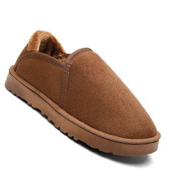 Men Casual Winter Warm Suede Trend for Fashion Shoes - YELLOW YELLOW