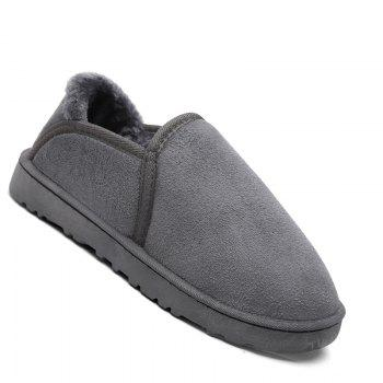 Men Casual Winter Warm Suede Trend for Fashion Shoes - GRAY GRAY