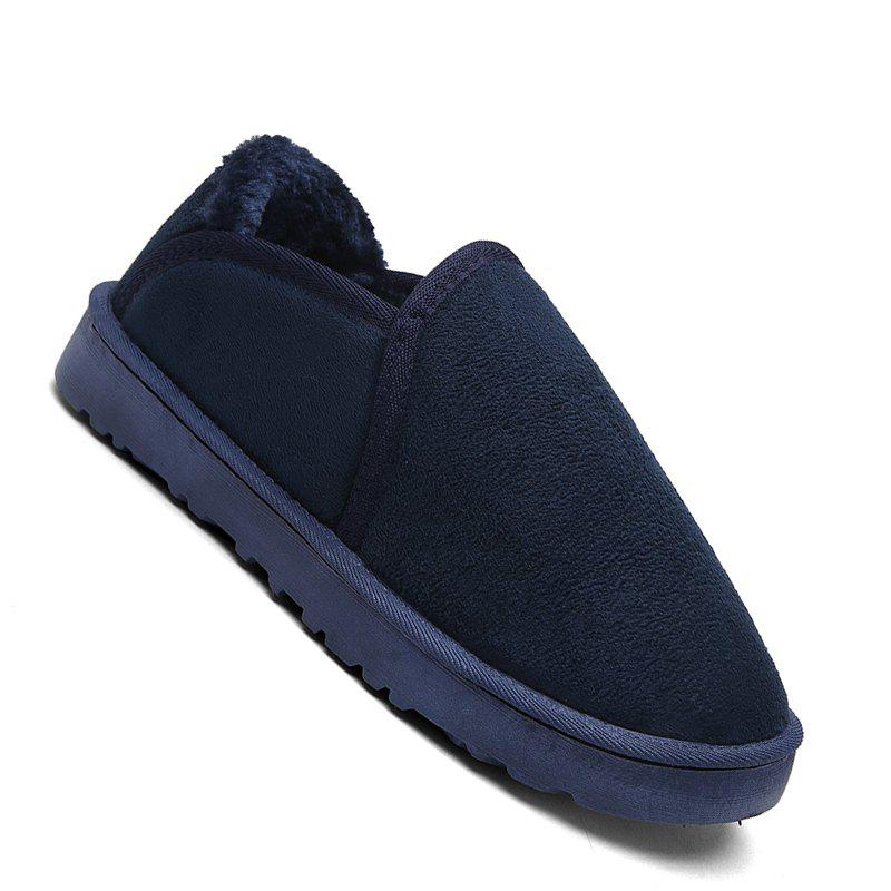 Men Casual Winter Warm Suede Trend for Fashion Shoes - BLUE 36