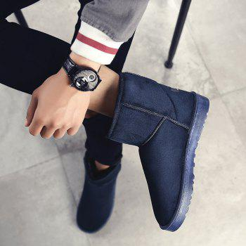 Men Casual Winter Warm Trend for Fashion Suede Shoes - BLUE BLUE