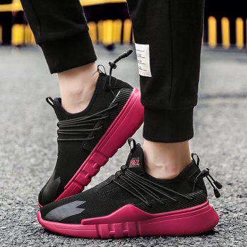Man Running Shoes Lightweight Sport Cushion Fitness Jogging Breathable Hiking Walking Fashion Outdoor Sneakers - RED 40