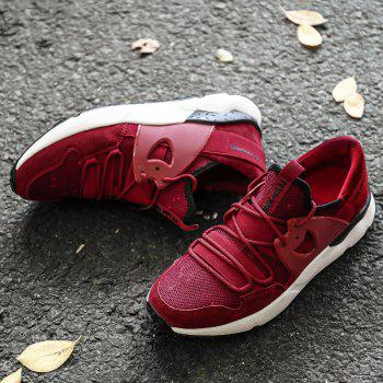 Man Running Shoes Lightweight Sport Cushion Fitness Jogging Outdoor Sneakers - RED RED