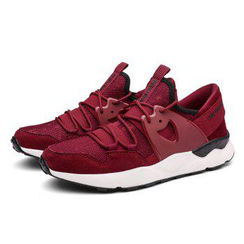 Man Running Shoes Lightweight Sport Cushion Fitness Jogging Outdoor Sneakers - RED 40