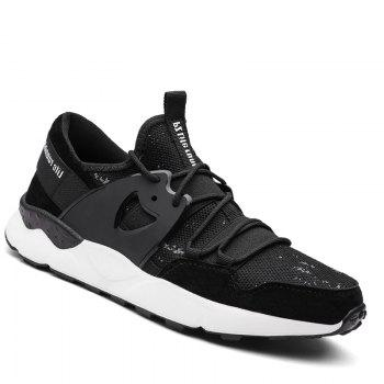 Man Running Shoes Lightweight Sport Cushion Fitness Jogging Outdoor Sneakers - BLACK BLACK