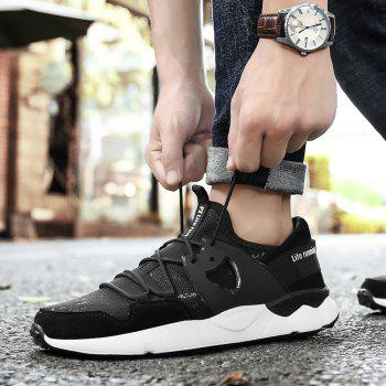 Man Running Shoes Lightweight Sport Cushion Fitness Jogging Outdoor Sneakers - BLACK 40
