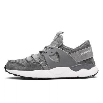 Man Running Shoes Lightweight Sport Cushion Fitness Jogging Outdoor Sneakers - GRAY GRAY