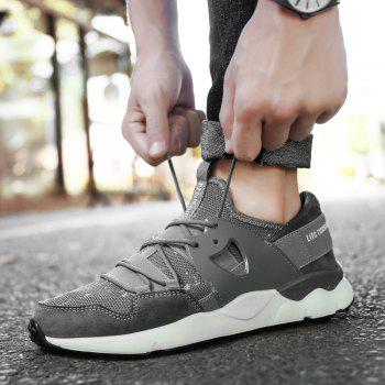 Man Running Shoes Lightweight Sport Cushion Fitness Jogging Outdoor Sneakers - GRAY 40