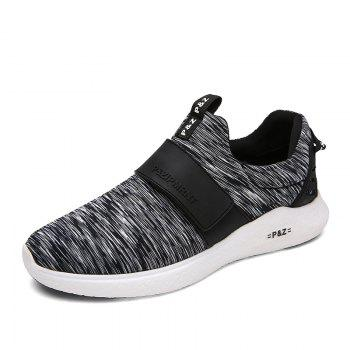Men Running Breathable Height Increase Shoes Sneakers Sports - BLACK BLACK