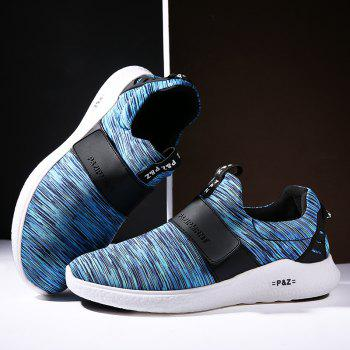 Men Running Breathable Height Increase Shoes Sneakers Sports - BLUE BLUE