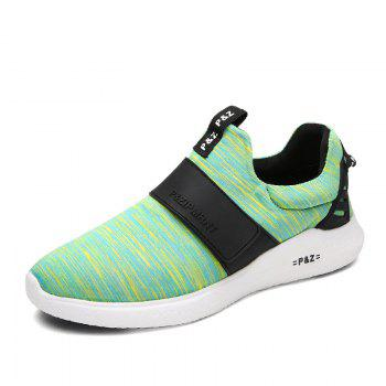 Men Running Breathable Height Increase Shoes Sneakers Sports - GREEN GREEN
