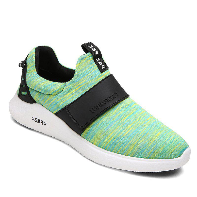 Men Running Breathable Height Increase Shoes Sneakers Sports - GREEN 40