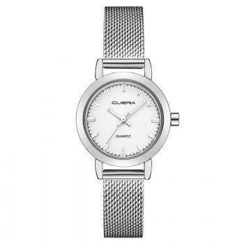 CUENA 6627G Luxury Women Quartz Watch Watche Waterproof Stainless Steel Watchband - SILVER WHITE SILVER WHITE