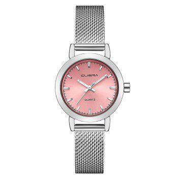 CUENA 6627G Luxury Women Quartz Watch Watche Waterproof Stainless Steel Watchband - PINK AND SILVER PINK/SILVER