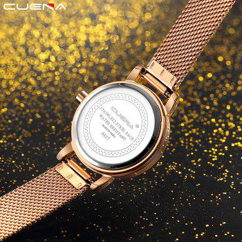 CUENA 6627G Luxury Women Quartz Watch Watche Waterproof Stainless Steel Watchband - ROSE GOLD