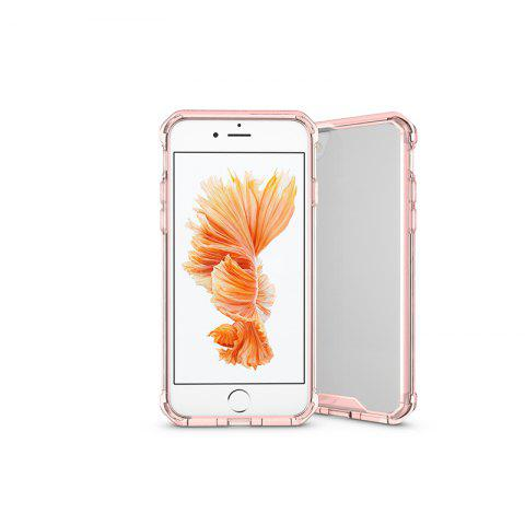 A1 Mobile Phone Shell for iPhone 8 Plus Case Airbag Anti Fall Sleeve Frame Transparent Protective Cover - PINK