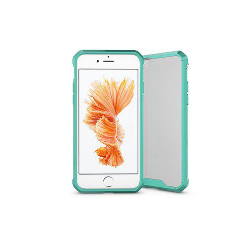 A1 Mobile Phone Shell for iPhone 8 Plus Case Airbag Anti Fall Sleeve Frame Transparent Protective Cover - GREEN