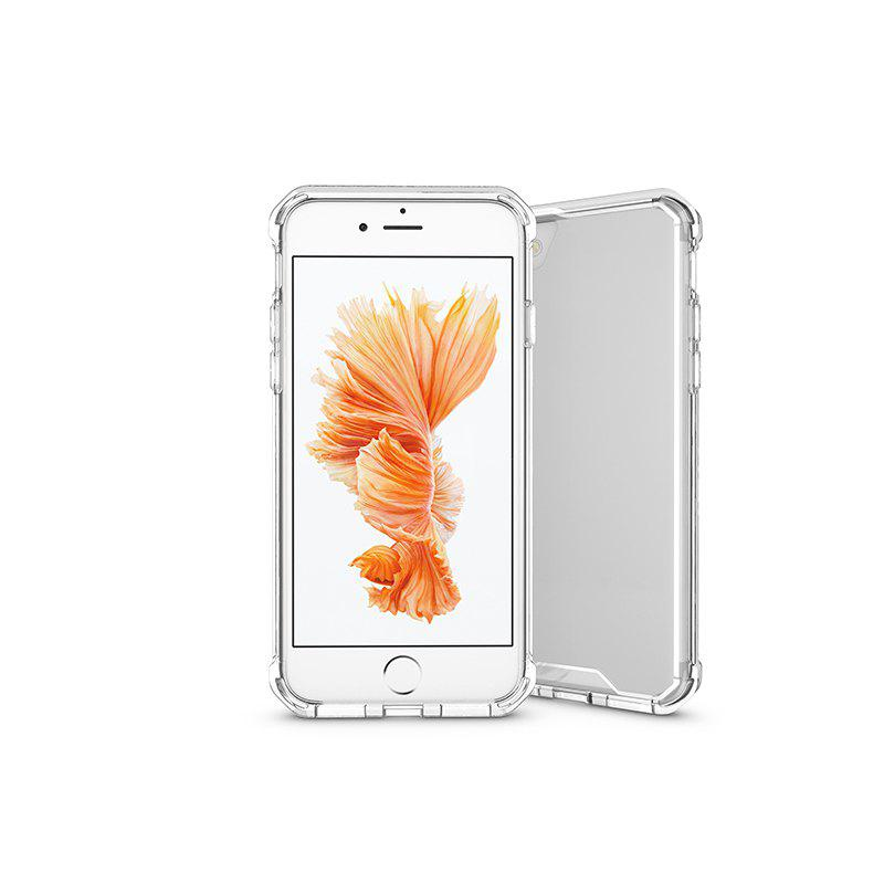 A1 Mobile Phone Shell for iPhone 8 Plus Case Airbag Anti Fall Sleeve Frame Transparent Protective Cover - WHITE