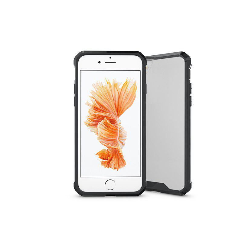 A1 Mobile Phone Shell for iPhone 8 Plus Case Airbag Anti Fall Sleeve Frame Transparent Protective Cover - BLACK