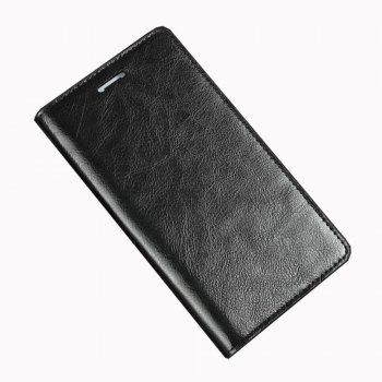 XY2 Crazy Horse Embossed Leather Wallet Clamshell Mobile Phone Protective Sleeve for HUAWEI Glory Play 6X - BLACK