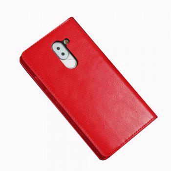XY2 Crazy Horse Embossed Leather Wallet Clamshell Mobile Phone Protective Sleeve for HUAWEI Glory Play 6X - RED