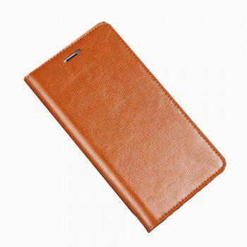 XY2 Crazy Horse Embossed Leather Wallet Clamshell Mobile Phone Protective Sleeve for HUAWEI Glory Play 6X -  BROWN