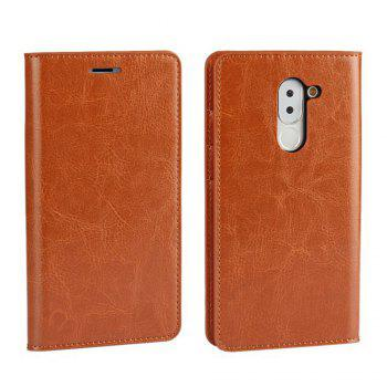 XY2 Crazy Horse Embossed Leather Wallet Clamshell Mobile Phone Protective Sleeve for HUAWEI Glory Play 6X - BROWN BROWN
