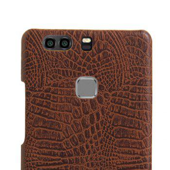 XY3 Mobile Phone Protective Sleeve Leather Crocodile Tattoo Stickers for HUAWEI P9 Plus -  BROWN