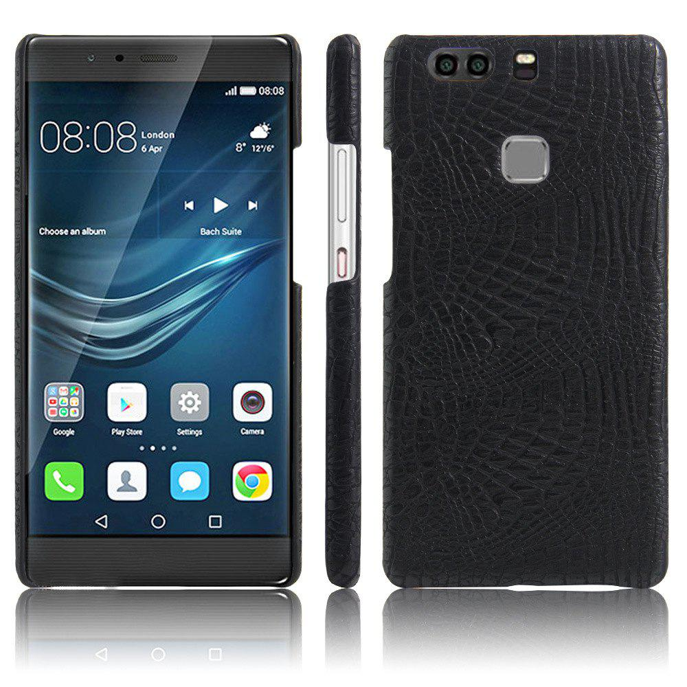 XY3 Mobile Phone Protective Sleeve Leather Crocodile Tattoo Stickers for HUAWEI P9 Plus - BLACK