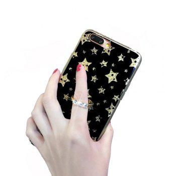 XY17 Anti Dropping Protective Cover for iPhone 7 Plus Flashing Black Star - BLACK