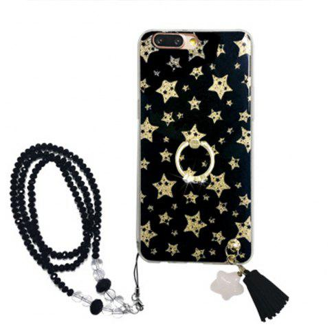 XY20 Anti Dropping Protective Cover for iPhone X Flashing Black Star - BLACK