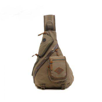 AUGUR Multifunction Canvas Chest Bag Men Travel  Shoulder Messenger Bag - ARMYGREEN ARMYGREEN