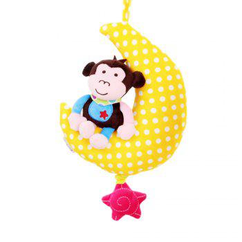 24CM Moon Animal Music Pull Bell - COLORMIX TYPEA
