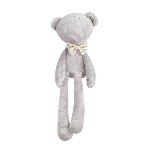 Appease Bear Plush Dolls with Bow-tie - WHITE